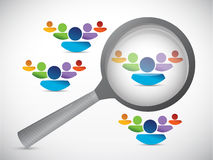 People selection illustration design. Over a white background Stock Photos