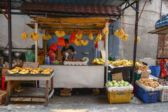 People sell fruits at the market in Kuala Lumpur, Malaysia Royalty Free Stock Image