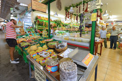People sell local food in Chania, Crete Royalty Free Stock Photo