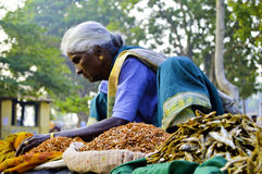 n Old woman greengrocer Royalty Free Stock Photography
