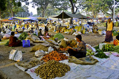 Indian rural market Royalty Free Stock Photo