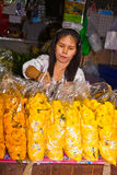 People selling flowers at Pak Khlong Thalat Royalty Free Stock Images