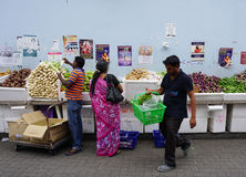 People selling fruits on street in Melaka, Malaysia Stock Images