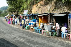 People selling vegetables and fruits in the streets of kodaikanal tourist spot,KODAIKANAL- Stock Images