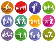 People and service icons. Different people and service icons on a white background vector illustration