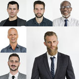 People Set of Diversity Businessmen Studio Portrait Stock Photo