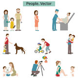 People. Set of elements. Stock Photos
