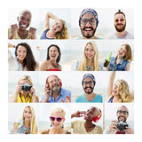 People Set of Faces Diversity Human Face Concept Stock Image