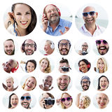 People Set of Faces Diversity Human Face Concept Stock Photo