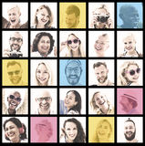 People Set of Faces Diversity Human Face Concept Stock Photography