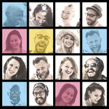 People Set of Faces Diversity Human Face Concept Royalty Free Stock Image