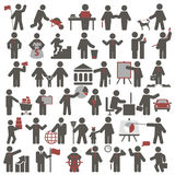 People. Set of icons Stock Photography