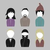 People set. Set of illustrations on a theme People Royalty Free Stock Image