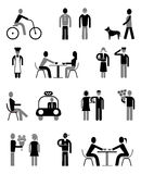 People - set of isolated vector icons Royalty Free Stock Image