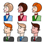 People. Set of vector illustration with persons office workers Royalty Free Stock Image