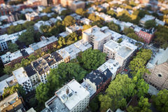 People settlement from above, NYC Stock Image