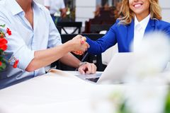 People shake their hands Stock Photo