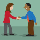 People shaking hands royalty free stock image