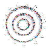 People in the shape of abstract symbols. Stock Image