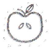People  shape  apple icon Royalty Free Stock Image