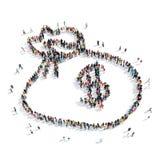People  shape  bag  money Stock Image