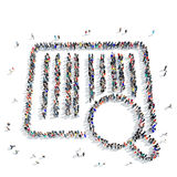 People shape a barcode buy icon Royalty Free Stock Photography
