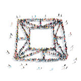 People  shape  brillinat precious. A group of people in the shape of brillinat, precious, cartoon, isolated, white background Royalty Free Stock Images