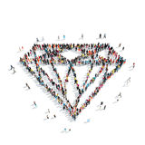 People  shape  brillinat precious. A group of people in the shape of brillinat, precious, cartoon, isolated, white background Stock Photos