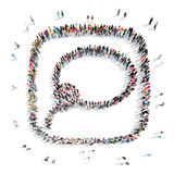 People in the shape of a buble chat , lasso. Royalty Free Stock Photos