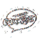 People  shape  chat bubble cartoon Royalty Free Stock Image
