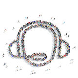 People  shape  consultant icon Stock Image