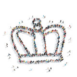 People  shape  crown cartoon Royalty Free Stock Photo