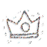 People  shape  crown cartoon Stock Images
