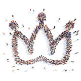 People in the shape of a crown Royalty Free Stock Photo