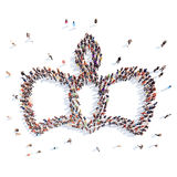 People in the shape of a crown Stock Images