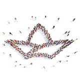 People in the shape of a crown Royalty Free Stock Images