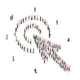People  shape  cursor  vector Stock Photography