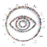 People in the shape of  eye. Royalty Free Stock Photography