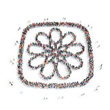 People in the shape of a flower. Royalty Free Stock Photos