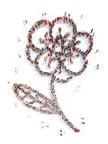 People in the shape of a flower Royalty Free Stock Images