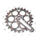 People in the shape of gears Royalty Free Stock Images