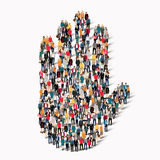 People  shape  hand stop sign Royalty Free Stock Image