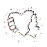 People in the shape of heart . Royalty Free Stock Photo