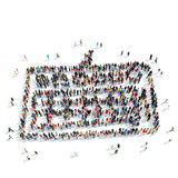 People  shape  keyboard cartoon Stock Photos