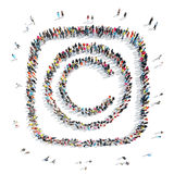 People in the shape of letters. Royalty Free Stock Photography