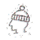People in the shape of man Royalty Free Stock Image