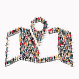 People shape  map pointer Royalty Free Stock Image