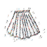 People shape  skirt cartoon Royalty Free Stock Images