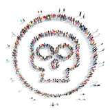 People in the shape of a skull. Stock Photo
