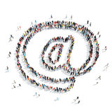 People  shape  symbol at Royalty Free Stock Images